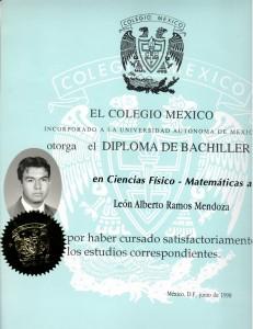 1998 Diploma Bachiller