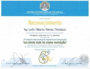 """2009 Ixtlahuaca """"Paradigmas comerciales en TI y soluciones"""""""