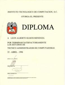 1996 Técnico Administrador de Computadoras