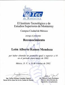 2002 Ceremonia de la excelencia ITESM