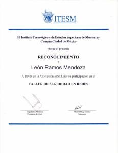 """2001 ITESM: """"Taller de Seguridad en Redes"""""""
