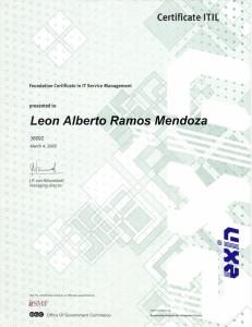 2005 Certificación en ITIL Foundations